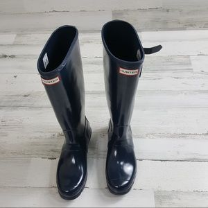 Hunter Boots Navy Blue New Size 9